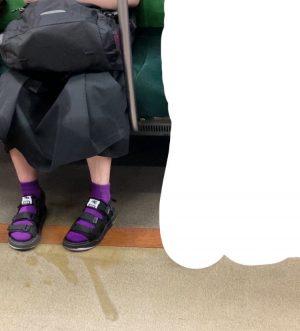 【画像】まんさん、電車でおしっこを我慢できないw