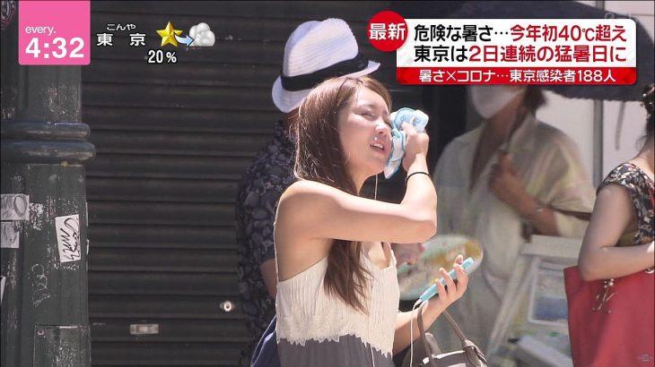 【画像】日テレで美人OLの乳首