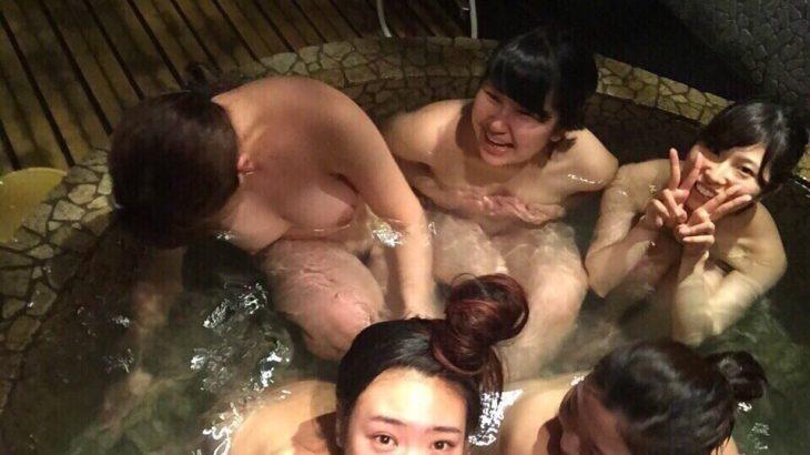 【画像】美人女子大生、温泉で自撮りしてしまう