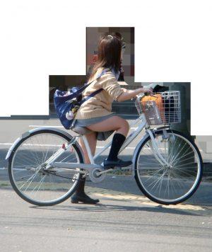 自転車JKのエロさは見えそうで見えないパンツよりも太ももにあると思うんだが