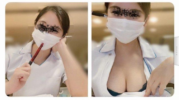 【画像】夜勤のコロナ病棟でエロいことをしている看護師が発見される