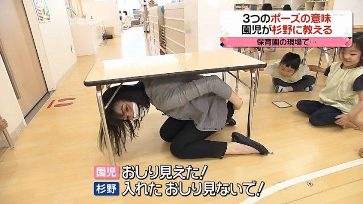 【画像】女子アナさん「入れたお尻」を園児に見られて赤面
