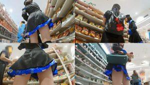 【画像あり】コスプレイヤーさん、スカートの下から盗撮されてしまう・・・